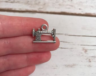 Sewing Machine Charms, Sewing Charms, Charm Bracelet, Sewing Machine, Silver Plated Charms, Jewelry