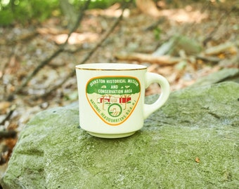 Vintage Boy Scouts Coffee mug Johnston Historical Museum and Conservation Area National Headqurters BSA New Jersey
