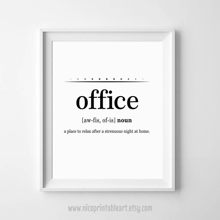 Funny Office Quotes: Office Wall Art Office Printables Funny Definition Art