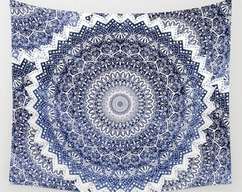 COLD WINTER MANDALAS Wall Tapestry
