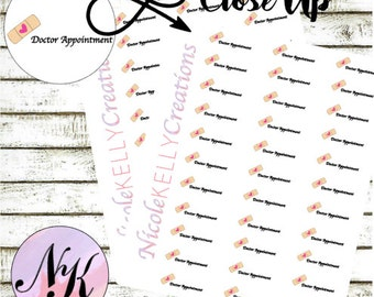 32 Doctor Appointment Stickers, Stickers, Doctor Stickers, Appointment sticker, use with Erin Condren Planner(TM), Happy Planner, planner