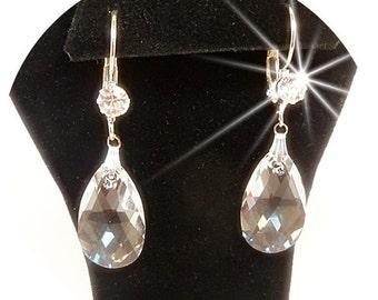 Crystal Earrings, Bridal Earrings, Crystal and Rhinestone, Wedding Earrings, Crystal Drop Earrings, Wedding Jewelry, Bridal Accessories