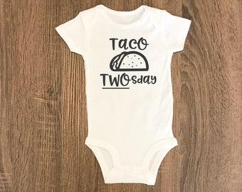Taco Birthday | Taco TWOsday | Fiesta Shirt | Fiesta Party | Taco Shirt | Taco Baby Shirt | Taco Bodysuit | Trendy Baby | Trendy Kids