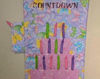 Birthday countdown calendar