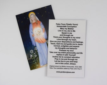 10 Totus Tuus (Totally Yours) prayer cards