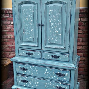 SOLD SOLD Vintage Armoire, Blue Armoire, Childrenu0027s Furniture, Wardrobe  Armoire, Rustic Armoire