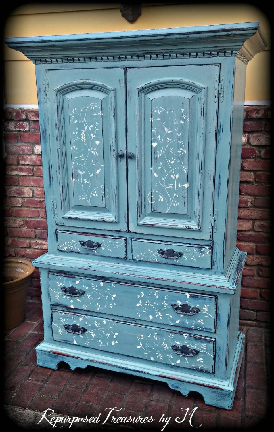SOLD SOLD Vintage armoire blue armoire children's