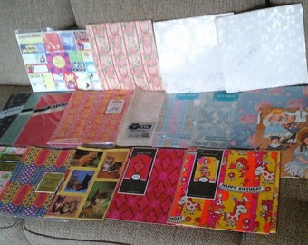 Vintage Wrapping Paper, 70s, 80s Wrapping Paper, Wedding, Birthday, All Occasion