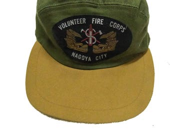 Vintage Volunteer Fire Corps caps military japan