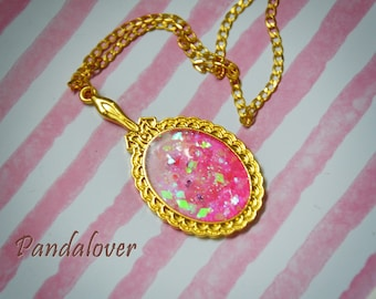 Mirror Necklace Pink