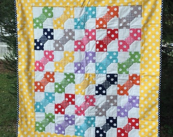 Polka-Dots and Bows-Little girl's quilt