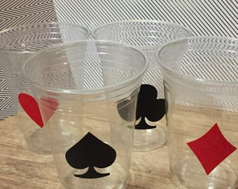 12 Casino themed party cups