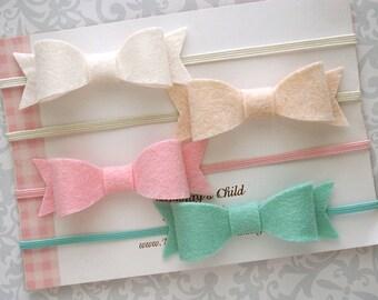 Mini Felt Bow, Felt Bow Headband, Felt Bows - Pick A Color - Baby Bow Headband, Baby Bows, Newborn Headband, Baby Headband, Toddler Headband