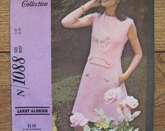 Vintage 60s McCalls pattern 1088 Misses DRESS sz 16 b38