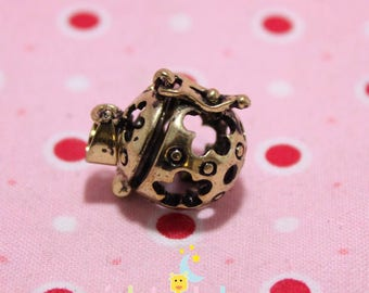 Small 12mm in size 19 mm bola golden metal cage