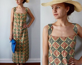 Vintage Dress, Vintage Summer Dress, Summer Dress, Casual, 1960s Dress, Hand Woven Cotton, Cotton Dress, Vintage Summer Dress