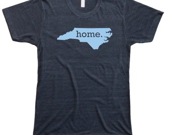 Homeland Tees Men's North Carolina Home T-Shirt CAROLINA BLUE LOGO