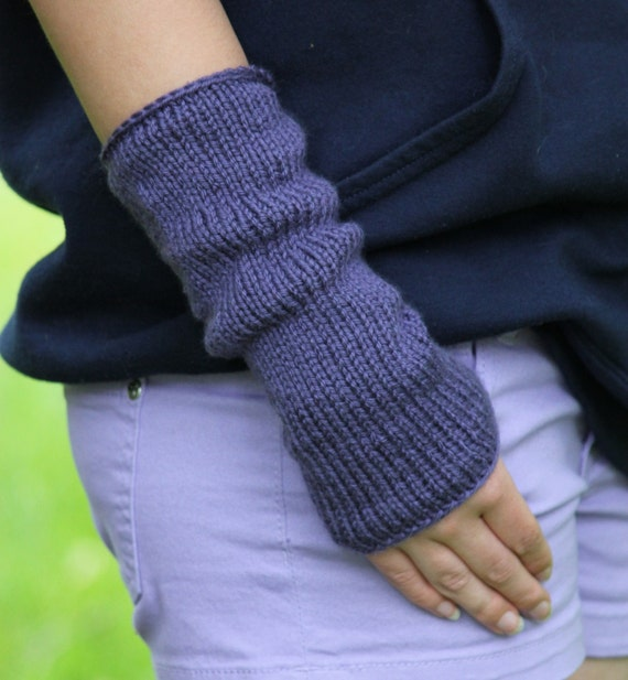 Knitting PATTERN - Fingerless Mittens Knitting Pattern - Easy Knit ...
