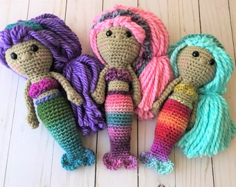 Crochet Mermaid, Mermaid, Crochet Mermaid Doll, Mermaid Doll, Mermaid Toy, Handmade Mermaid,Waldorf Toy, Waldorf, Birthday Gift, Headband