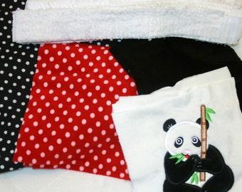 "Appliqued Minky Quilt Kit ""Precious Pandas"""