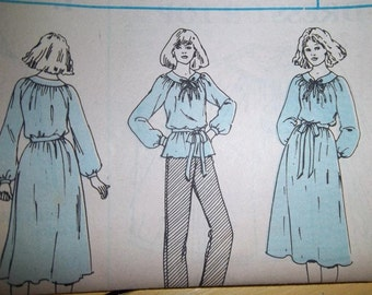 Sale - Vintage - McCall's 6254 - Loose Fitting Dress - Loose Fitting Top - Bust 29 1/2 - 46 Ins. - Uncut pattern