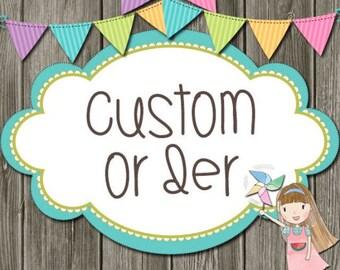 Custom order - Mary Claire Stevens
