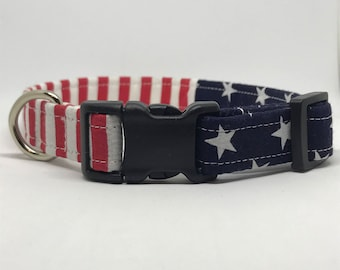 Best Seller! Fourth of July // American Flag // Red White Blue Dog Collar