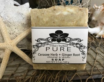Organic Cerasee Herb & Ginger Root Soap Bar- 100% Handmade