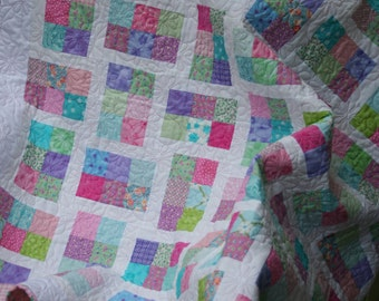"Baby Quilt PDF pattern ""Promenade"""