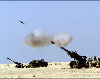 Poster, Many Sizes Available; M-198 Howitzer 11Th Marine Regiment