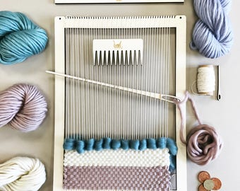 Weaving Loom Kit.  Large lap loom.  Learn to frame weave, tapestry.  Beginners learn to weave.