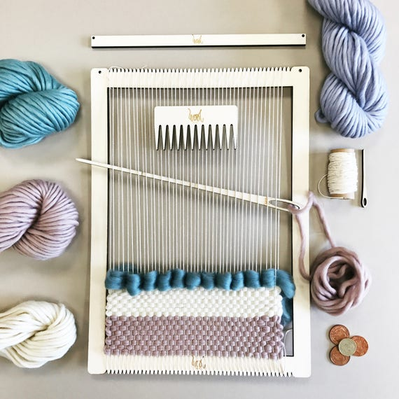 Weaving Loom Kit. Large lap loom. Learn to frame weave
