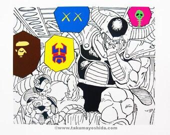 Japanese Earth TAKUMA YOSHIDA Dragonball Print Bape Transformers Kaws Murakami