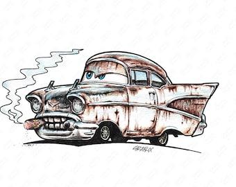 Welderup '57 Chevy GRUFFIX ART STUDIO