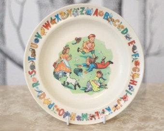 Pretty Permaware child's plate C.1960s