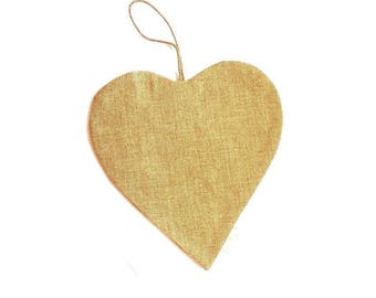 Heart of linen to be embroidered, support embroidery linen, small pocket Heart to be decorated