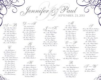 Wedding Seating Chart...PDF File..Swirl