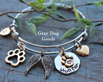 Dog Memorial Bracelet, Pet Memorial Jewelry, Pet Loss, Loss of Dog, Fur Baby Bracelet, Rainbow Bridge, Read Full Listing Details