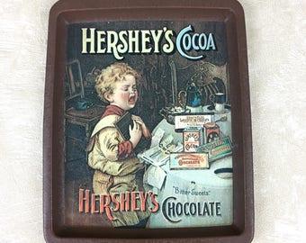 Vintage Hersey's Cocoa Tin Tray