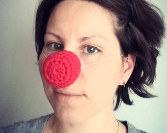 Rudolph red nose warmer, Nose cover, Winter accessory, Nose scarf, Nose heater, Christmas gift