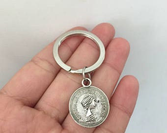 Queen Elizabeth The Second keychain,Queen Elizabeth The Second gifts key ring