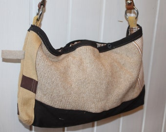 Shoulder bag, wool leather