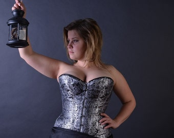 Jacquard overbust corset