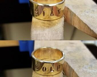 Stay Gold Brass Ring