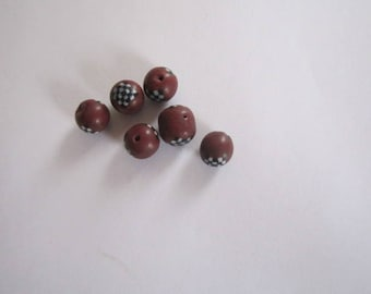 style 6 beads Earth 8mm