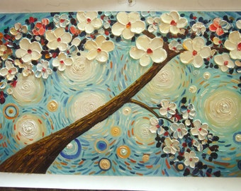 handpainted thick pallet knife heavy oil painting reproduction on canvas for home decor wall art