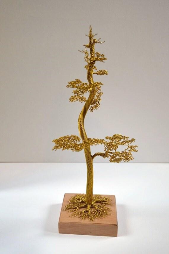 hoch Bonsai-Baum im Wind schöne Kunst Baum Aluminium Draht