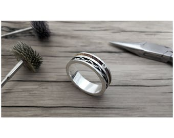 Weave Diamond 7mm, wood ring