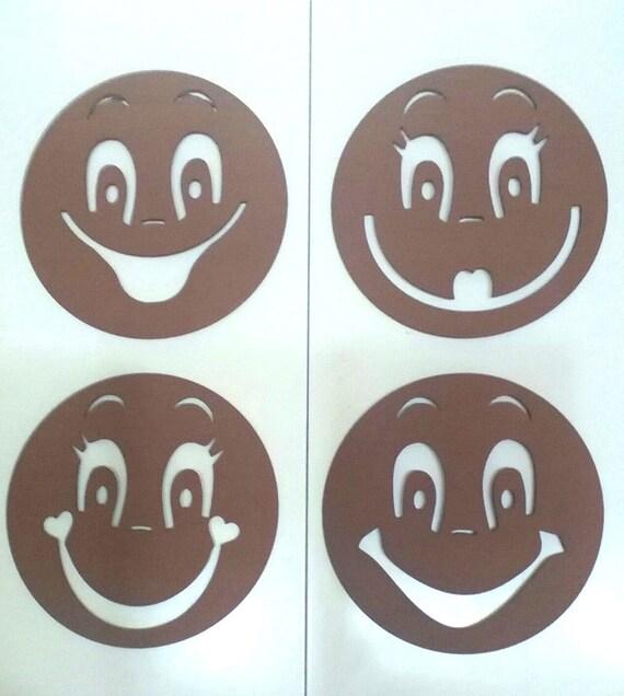 Plantillas de goma eva para pintar caras de fofuchas 4
