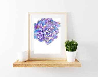 Flower Art Print, Flower Art, Minimalist, Flower Wall Print, Flower Wall Decor, Flower Watercolor Painting, Flower Painting, Tropical Print